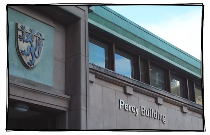 Image of the exterior of Newcastle University's Percy Building, School of English Literature, Language and Linguistics